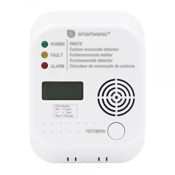 Smartwares FSE-19203 Warnmelderset batteriebetrieben detektiert Kohlenmonoxid