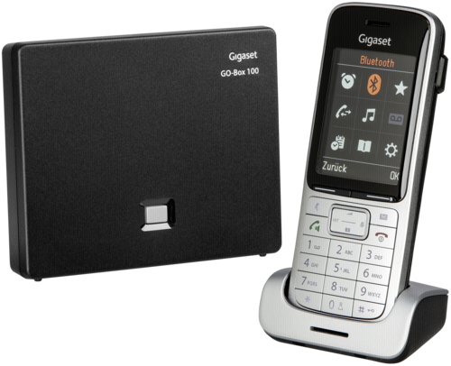 Gigaset SL450 A GO platin/schwarz