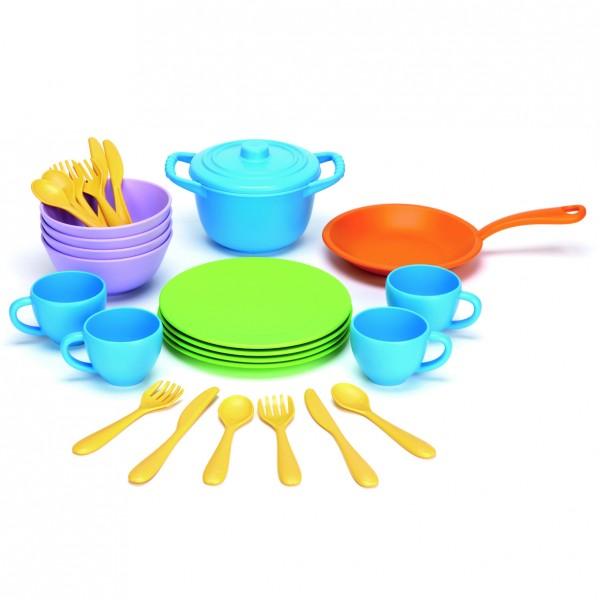 Green Toys Spiel Koch- und Essgeschirr