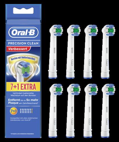Braun Oral-B Aufsteckbürsten Precision Clean 7+1 Bakt.Schutz