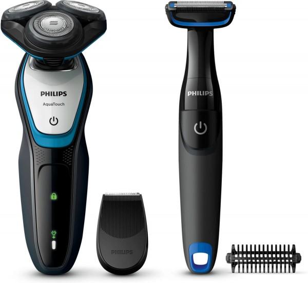 PHILIPS S 5070/92 Aqua Touch Rasierer Series 5000 + gratis Bodygroom