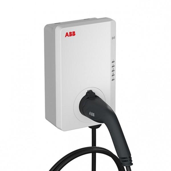 ABB Terra AC-Wallbox (inkl. 5m Typ 2 Kabel, 11 kW, RFID/APP, EM, LAN/WLAN, DC, OCPP 1.6)