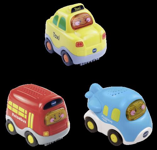 VTech Tut Tut Baby Flitzer Set 8 (Taxi, Flugzeug, Reisebus)