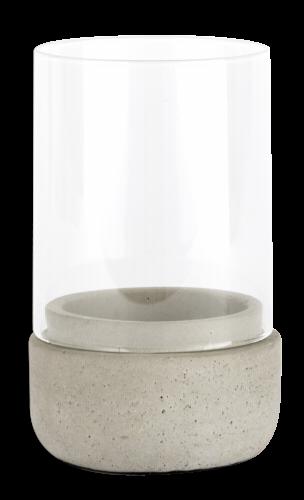 Zilverstad Windlicht Solido kl. 80x130mm Beton / Glas 8071030
