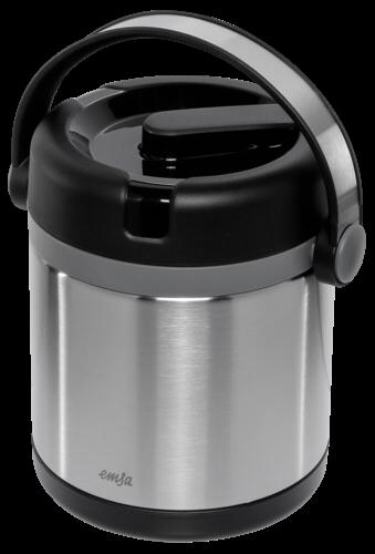 EMSA Thermobehälter MOBILITY 1,2L, edelstahl/schwarz