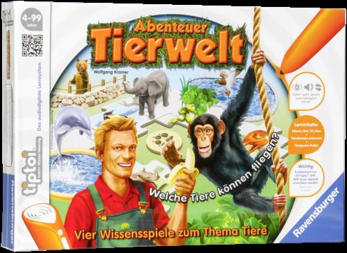 Ravensburger tiptoi Abenteuer Tierwelt (ohne Stift)