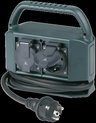 REV Steckdosenverteiler IP44 4-fach 2m