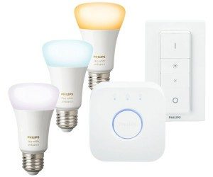 Philips Hue E27 Ambiance Starterset incl 3 Lamps und DimSwitch