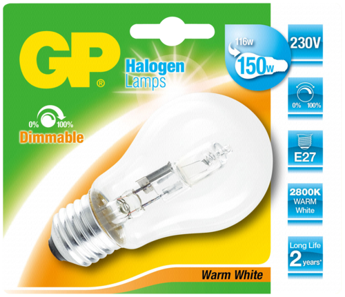 GP Lighting Halogen Lampe E27 116W (150W) warmweiß 1800 lm