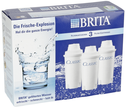 1x3 Brita Filterkartuschen Pack 3 Classic Ersatzkartuschen