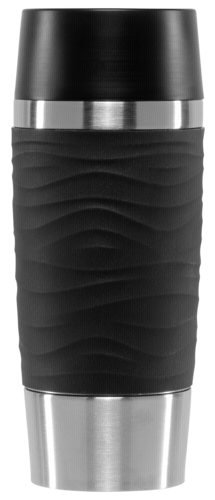 EMSA Isolierbecher TRAVEL MUG Waves 0,36L, puderschwarz