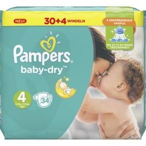 Pampers Windeln Baby Dry Größe 4 Maxi (9-14kg)