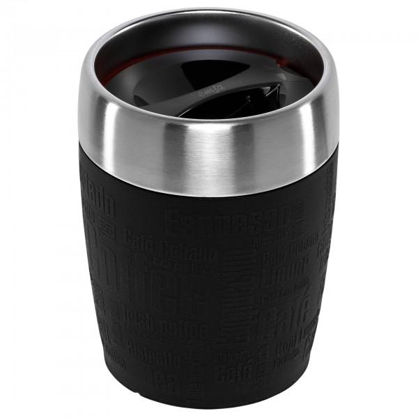 EMSA Isolierbecher TRAVEL CUP 0,2L, edelstahl/schwarz
