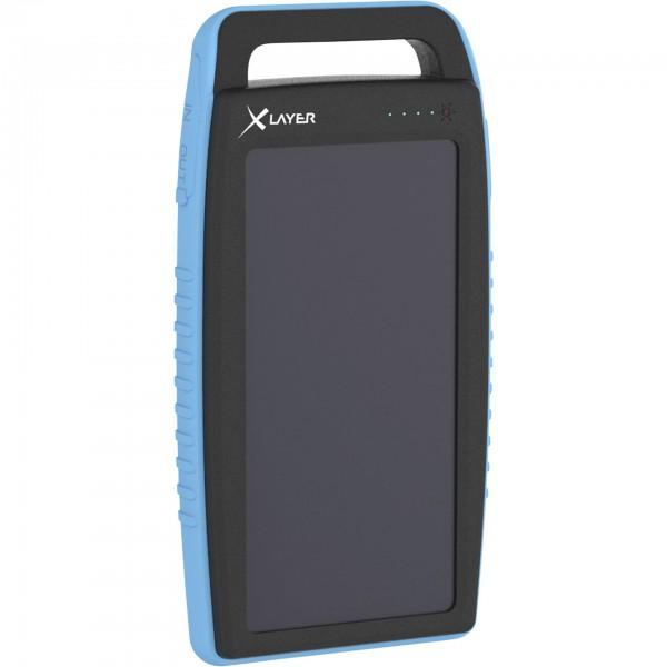 Xlayer Powerbank PLUS Solar Black/Blue 15000mAh