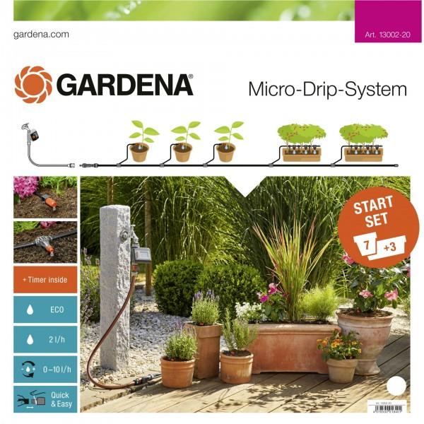Gardena Micro-Drip Start Set M automatic Pflanztöpfe
