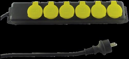 REV Steckdosenleiste IP44 6-fach 1,4m