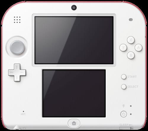 Nintendo 2DS rot-weiss