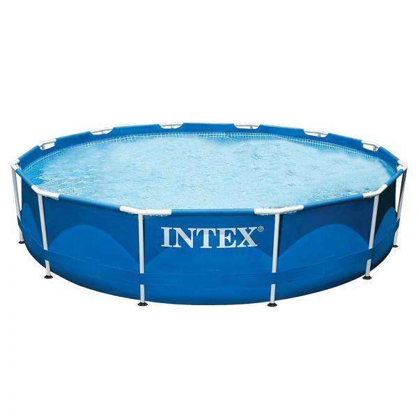 Intex Metal Frame Pool Blue, 366x76 cm