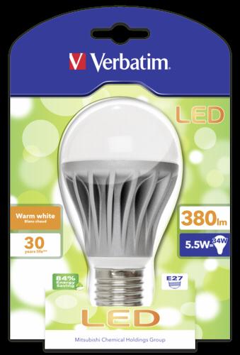Verbatim LED Lampe E27 5,5W (34W) warmweiß 380 lm
