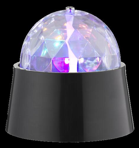 WOFI LED Discotischleuchte MAGIC 3W festverbaut mit Motor