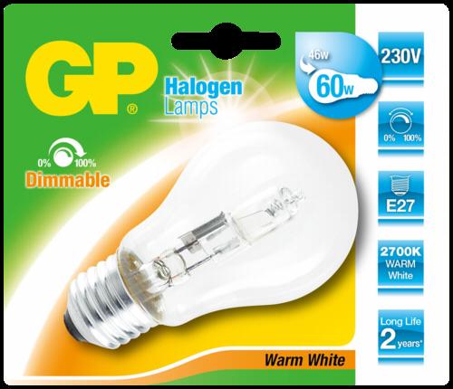 GP Lighting Halogen Lampe E27 46W (60W) warmweiß 630 lm
